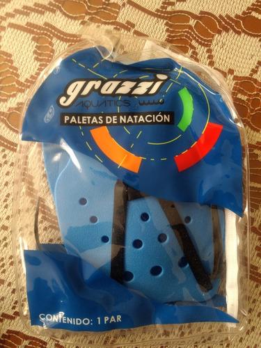 paletas de natación grazzi