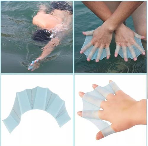 paletas  / manopla para natación tipo membrana amarillo