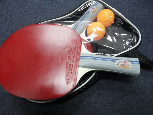 paletas ping pong set 2 paletas.double fish ck 307