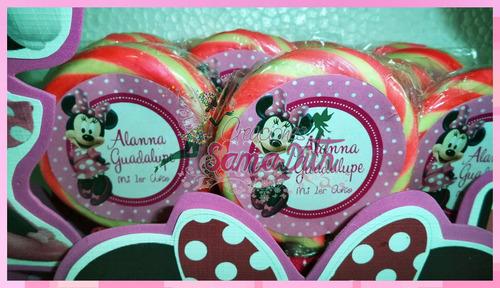 paletas y bombones personalizados x docena