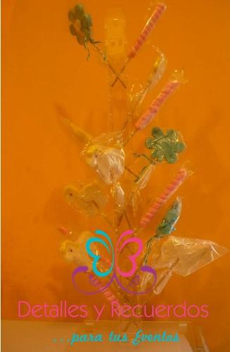 paletero acrilico chico de 50 cm alto barra mesa dulces