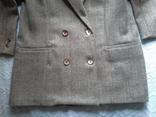 paletó feminino alfaiataria em lãzinha espinha de peixe