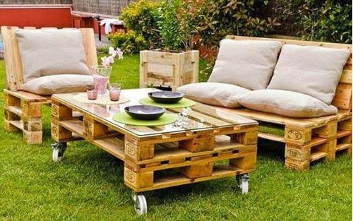 Palets y muebles de jardin 1 en mercado libre for Confeccionamos muebles de jardin en palets