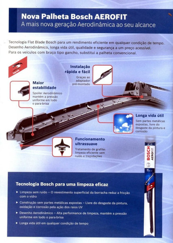 palheta aerofit original bosch nissan pathfinder 92/04 22/20