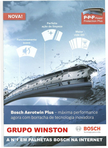 palheta bosch aerotwin plus + traseira polo 10 a 14 ap 21/19