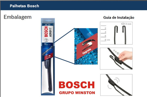 palheta kia besta 99 a 2003 original bosch aerofit 20/18