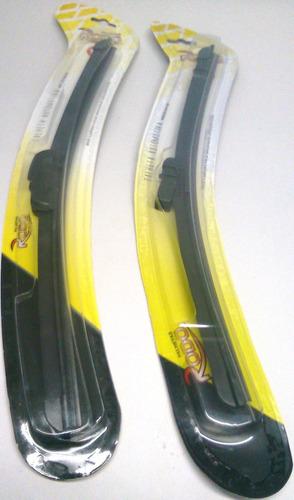 palheta parabrisa vidro carro silicone flexivel par diant 20
