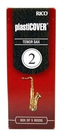 palheta saxofone tenor rico plasticover numero 2 caixa com 5