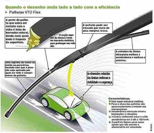 palheta slim limpador parabrisa golf g7 2014 2015 vto par