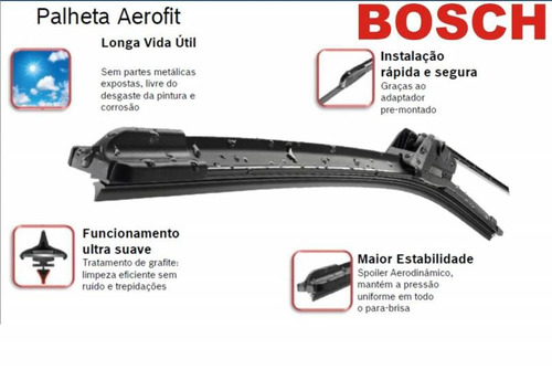 palhetas limpador lexus es300 92/96 bosch aerofit
