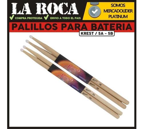 palillos baquetas para bateria percusion 5a / 5b - la roca