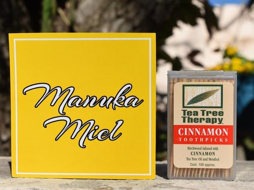 palillos de dientes canela tree aceite de árbol de té mentol