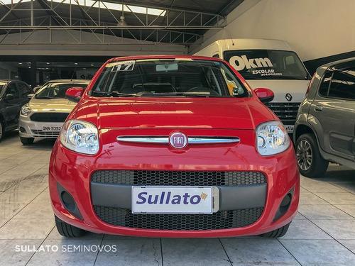 palio 1.0 attractive completo ano 2017 vermelho