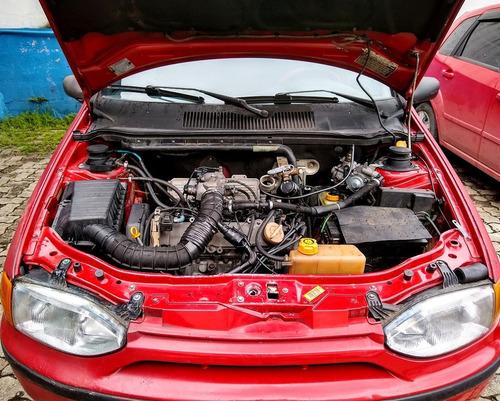 palio weekend 1.5 vermelho 2000
