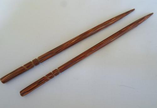 palito de coco pati para cabelo (cento) ref. 3016