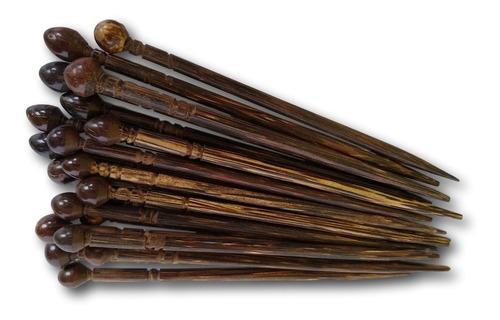 palito de coco  tucum para cabelo 100 unidades ref: 5208