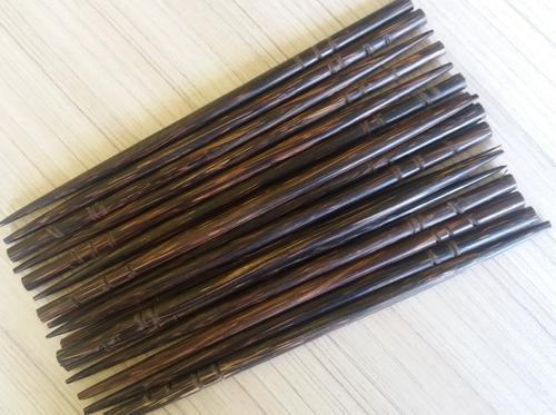 palito de coco tucum para cabelo (dúzia) ref. 7513