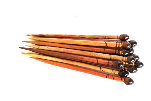 palito de madeira para cabelo 100 unidades ref: 9831