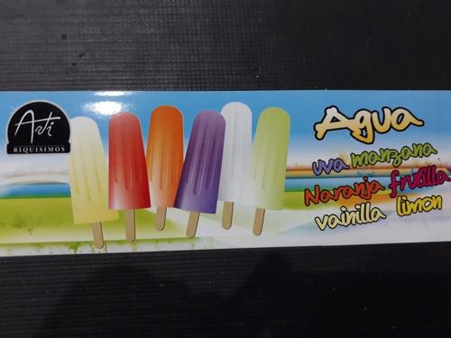 palito helado agua varios sabores x 40unid