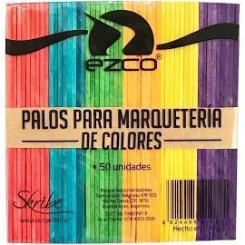 palitos de helado color para marqueteria x250u ezco