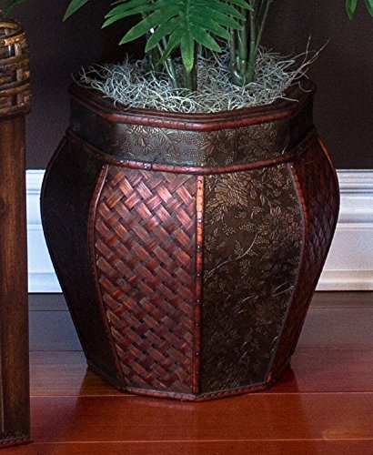 palma de areca casi natural 6651 con florero planta de seda