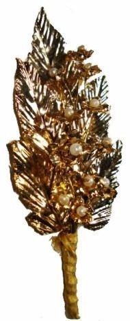 palma de cobre com banho de d'ouro m