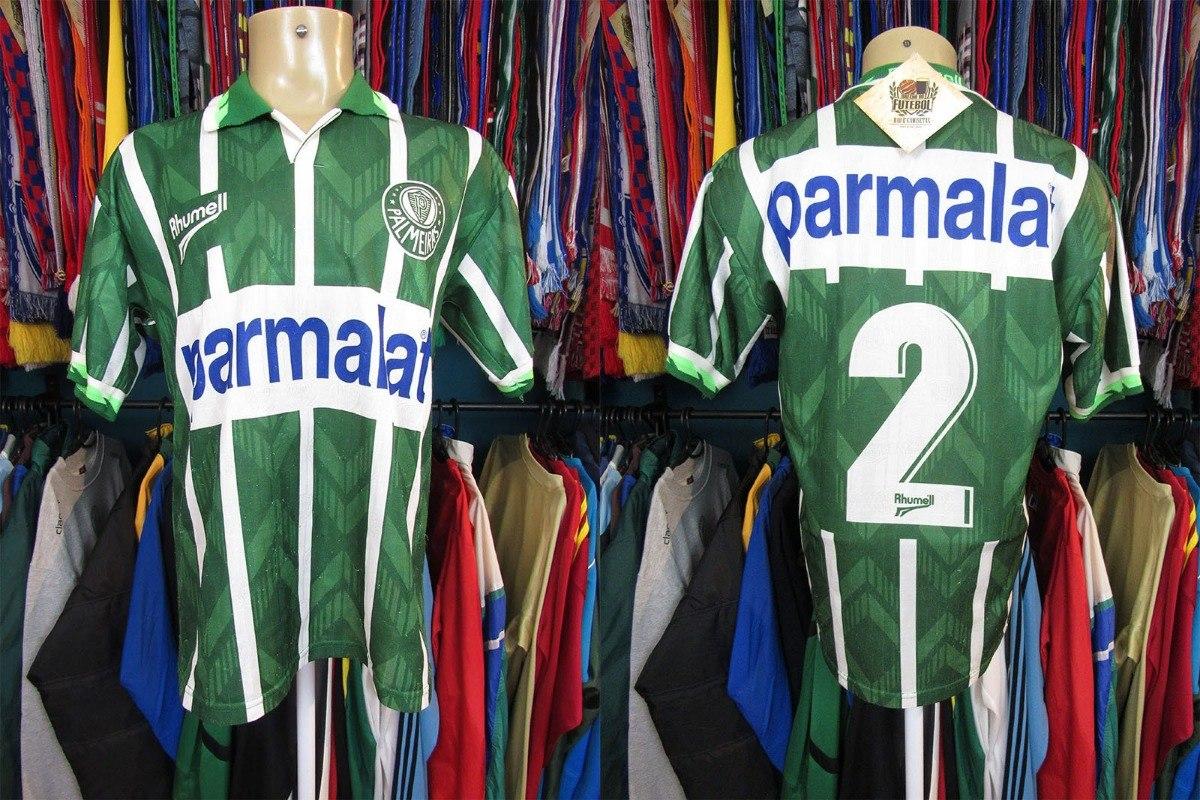 palmeiras 1996 camisa titular tamanho g número 2. Carregando zoom. d46f984d37bd3