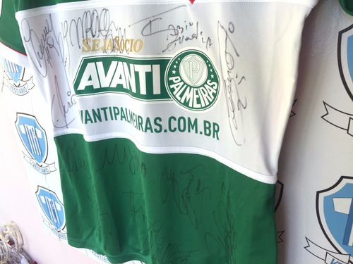 palmeiras adidas 2014 usada por leo cunha toda autografada m