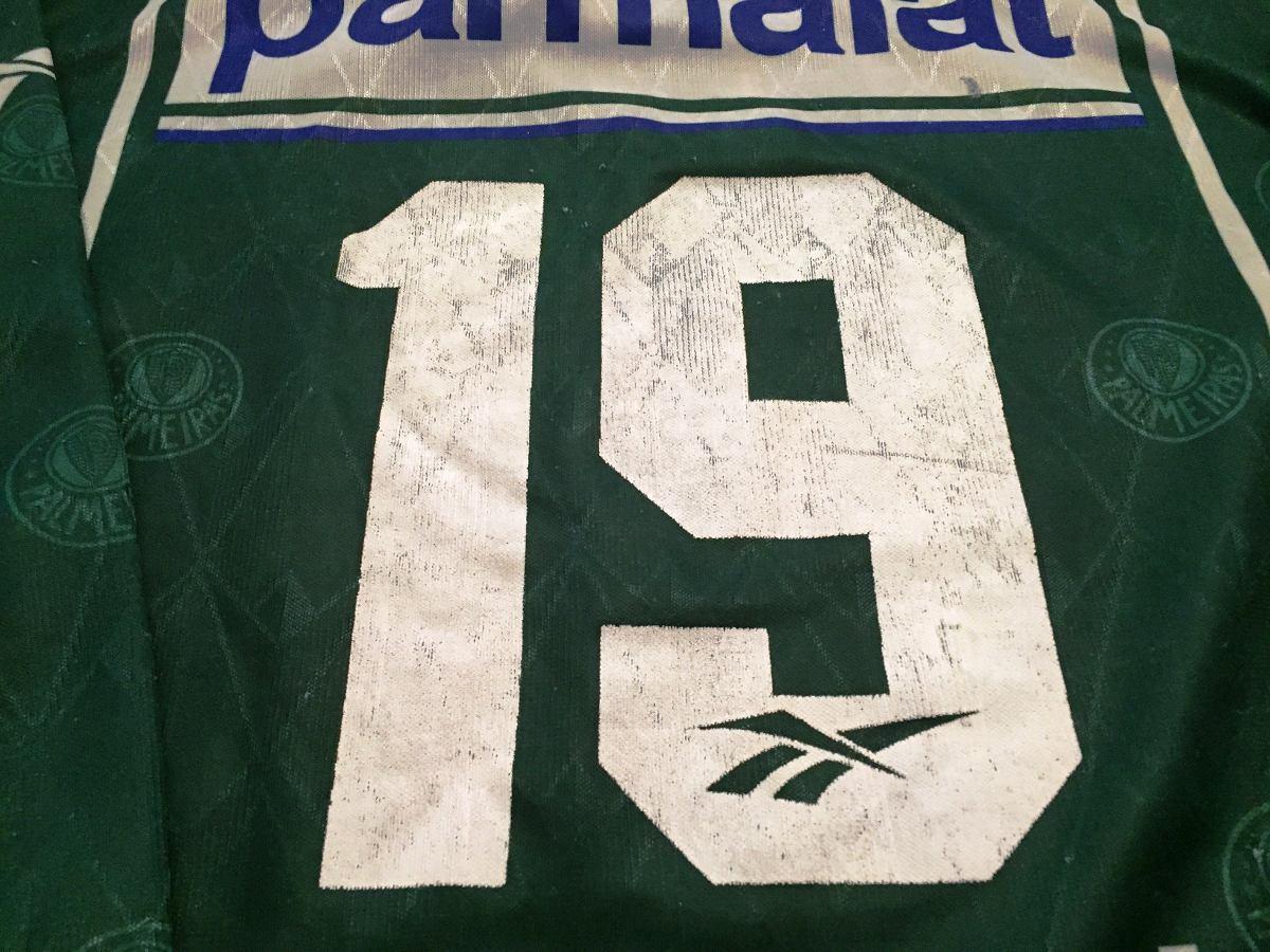 da30a6bd9d Camisa Palmeiras Usada Em Jogo Brasileiro 1996 Mangas Longas - R ...