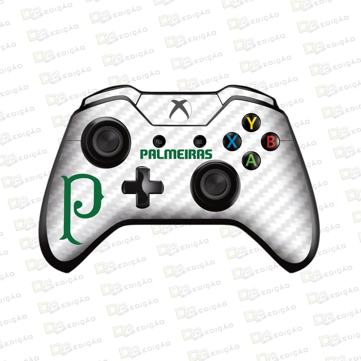 Palmeiras F C Adesivo Skin Controle Xbox One Carbono Branco R