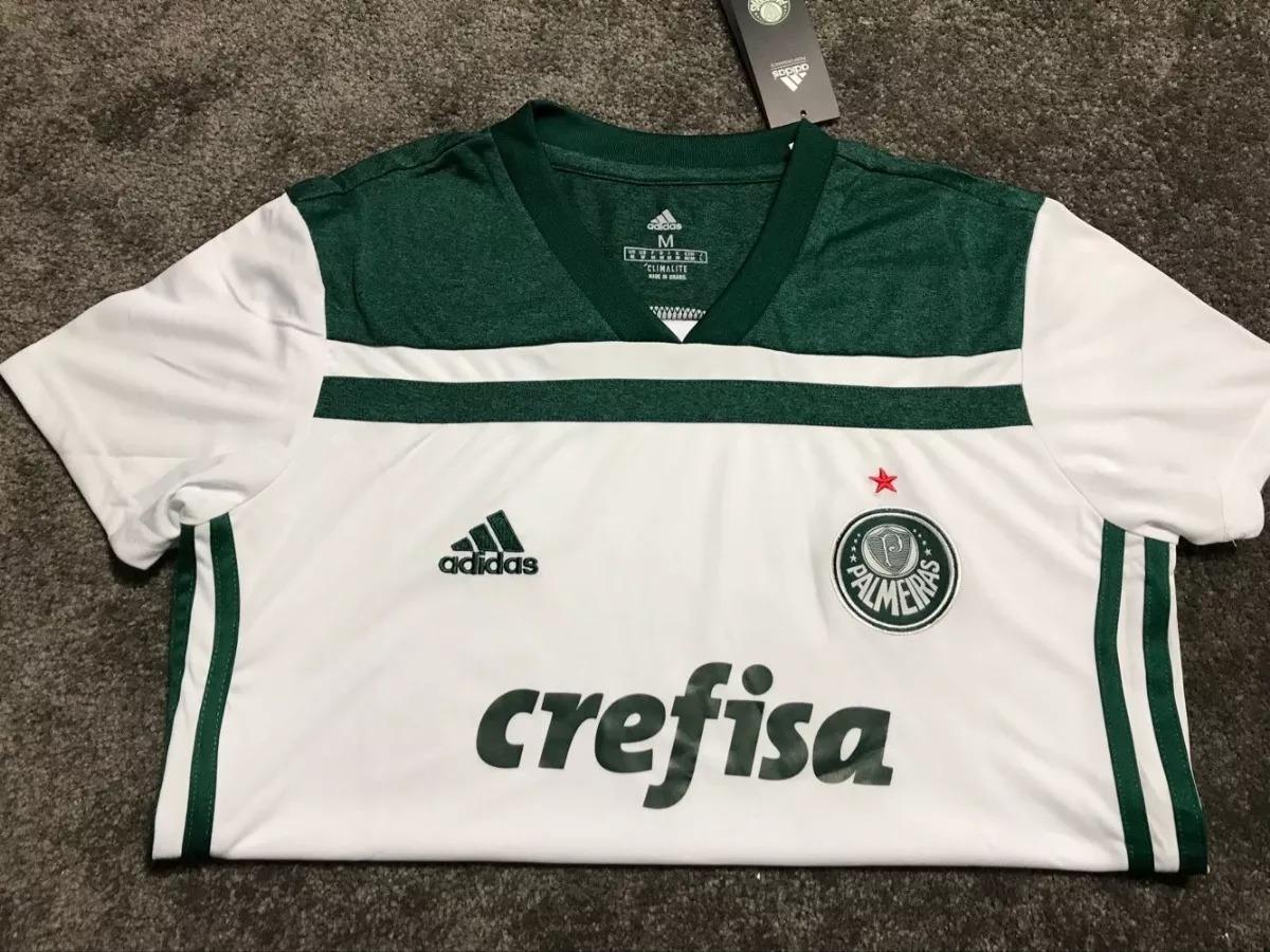 f3ab36e0f7621 Camisa Palmeiras 2018 Feminina Home Away Oficial adidas Nova - R ...
