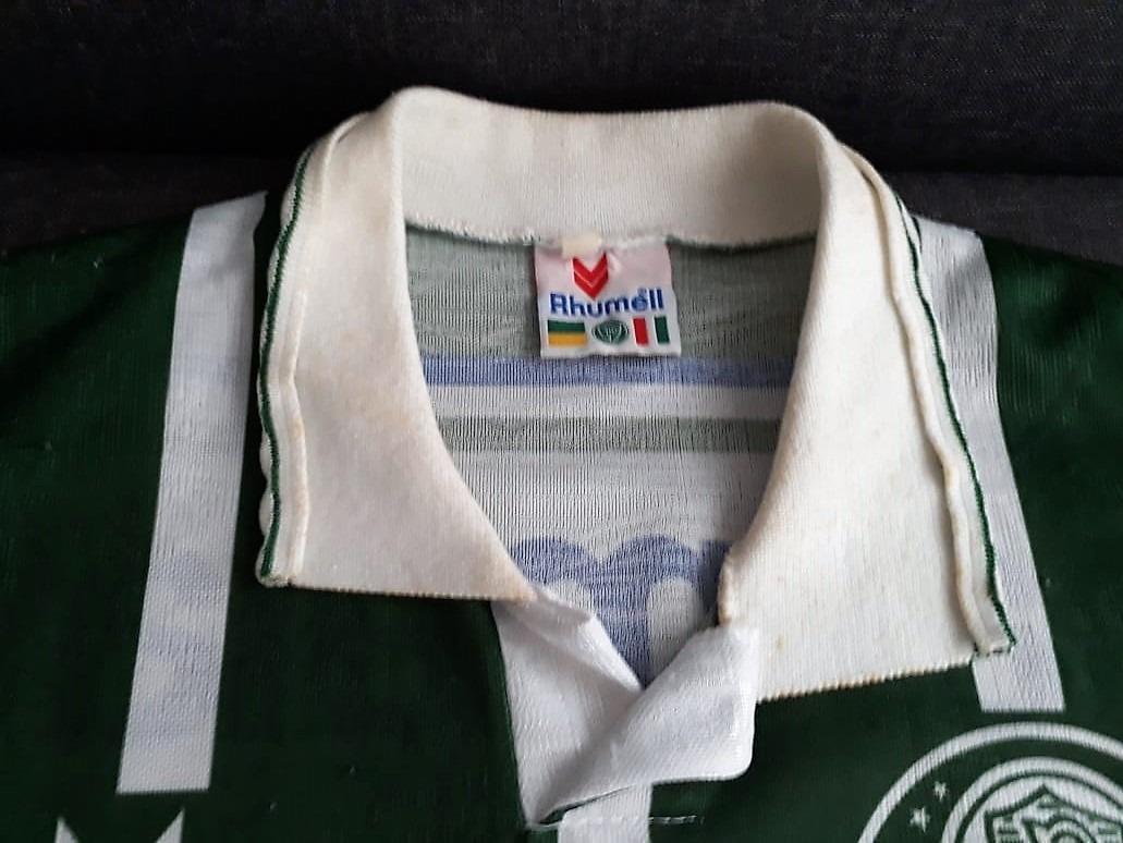 3678f3a3577c8 Camisa Palmeiras Parmalat 1994 - Autografada Por Galeano - R  450
