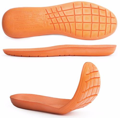 palmilha gel conforto laranja macia altura anatômica acero