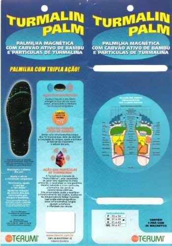 02382bf9859 Palmilha Magnética Terumi Original Terapia Imãs Frete Grátis - R ...
