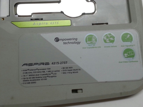 palmrest touchpad carcasa superior acer aspire 4315