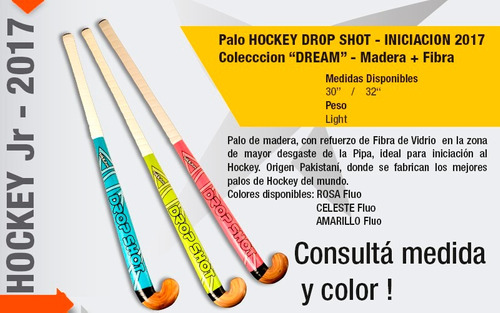 palo de hockey drop shot  dream  iniciacion madera 30  32