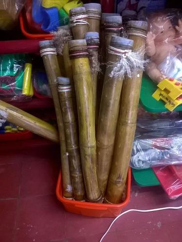 palo de lluvia de bambu prehispanico