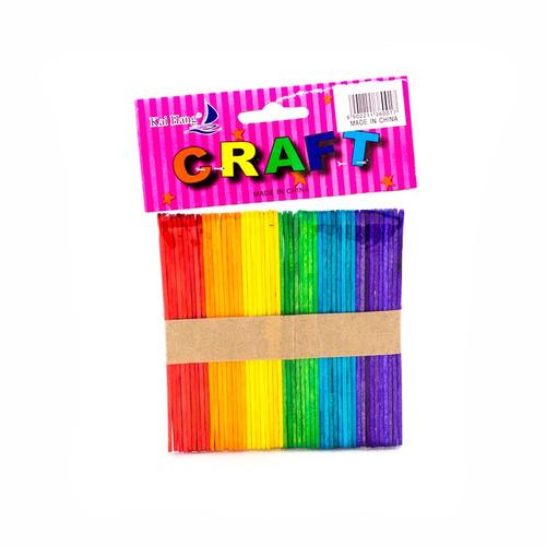 palo paleta color x 50 craft - unidad a $60