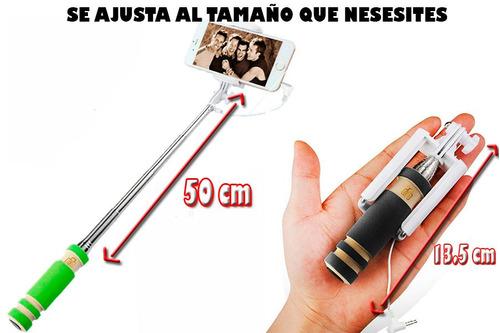 palo para selfies, compatible con todo tipo de smarphones.