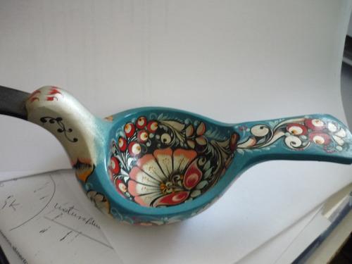 paloma de la paz adorno madera pintado a mano ruso original