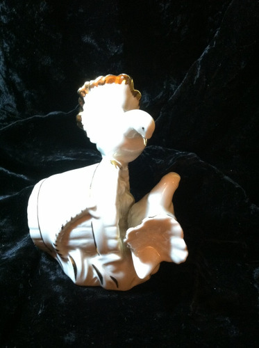 palomas en porcelana fina española m. requena