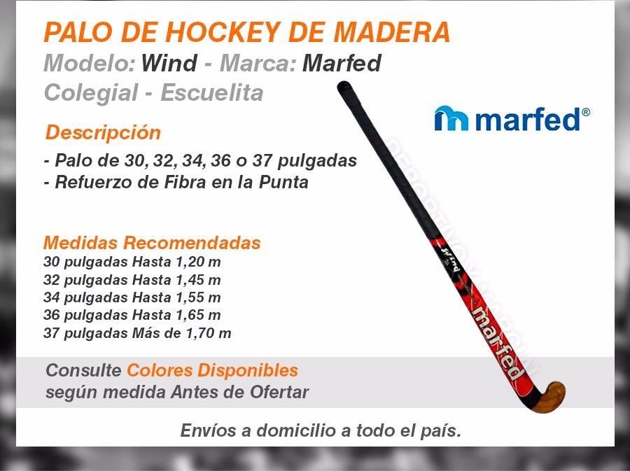 Palos Hockey Madera Colegial Escuelita 30a37 Pulgadas Cesped - $ 328 ...
