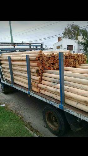 palos polines curados de eucalipto de 2m60 x 10 de diámetro
