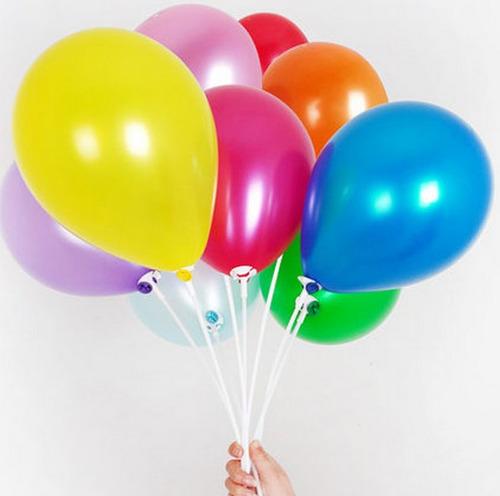 palos, varilla y copas plasticas p/ globos burbuja decorac