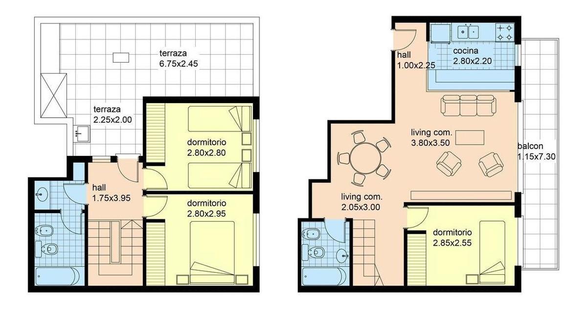 palpa 2900 -  4 amb - 110 m2 -terraza con parrilla propia - oportunidad !!