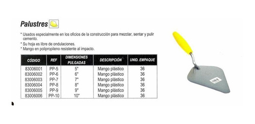 palustre collins 10` m/p 83006006