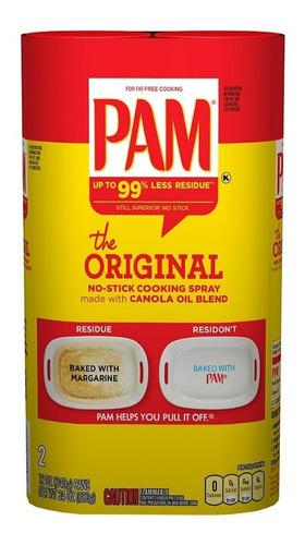pam original aceite en spray para cocinar (2 unidades)