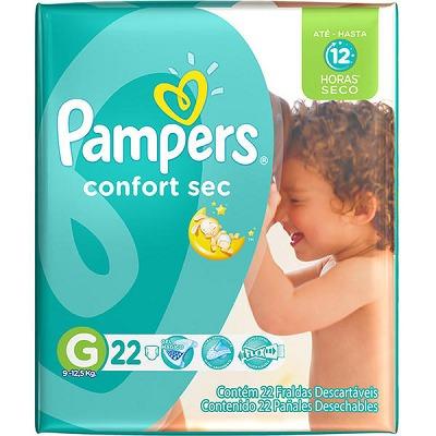 pampers confort sec grande (72 unidades)