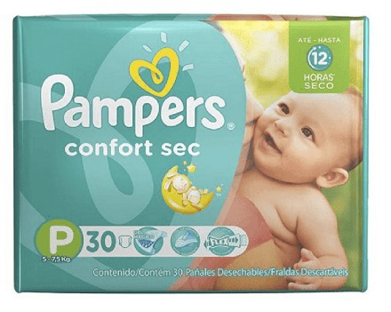 pampers confort sec pequeno (30 unidades)