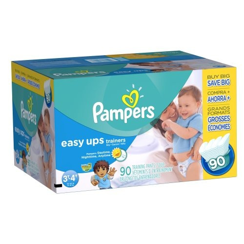 pampers easy ups trainers, value pack, boy, talla 5 s3t/4t,
